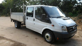 2009/09 Ford Transit 115 T350 Crew Cab Drop Side Pick up Tail Lift 2.4 Turbo Diesel 6 Speed
