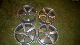 20'' audi rotor alloys 5x112 staggered concave 5 spoke