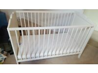 Ikea Cot and mattress for sale in excellent condition