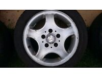 Mercedes Benz Alloy Wheels 195/50/15 with 4 very good cond. tyres