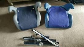 Job lot 2x kids booster seats and 3x sunshades