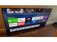 """SONY 65"""" Smart 3D UHD 4K HDR ANDROID TV- 65X8509C,built in Wifi,Freeview HD,Excellent condition"""