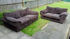 3 and 2 seater sofas. Perfect condition and can deliver