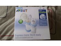 Philips Avent manual breast pump with VIA storage