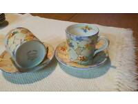 Tams wear set of 8, 1930s coffee cups