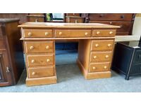 Solid pine dressing table with 9 drawers