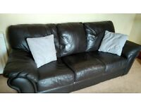 Real Leather Sofa & Chair
