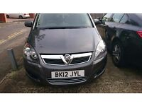 GOOD CONDITION VAUXHALL ZAFIRA 2012, ENGINE SIZE 1.7 DIESEL. MOT and FULL SERVICE HISTORY COMPLETE
