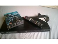 LG BD660 3D Blu-ray + DVD player smart app, With Harry potter Blu ray box set
