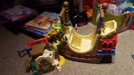 Happyland pirate ship and island