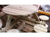 For sale new pine picnic table 8 seater