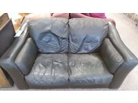FREE TO COLLECTOR LEATHER SOFA 2 SEATER