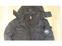 Canada Goose Black Artic Men's Zipped Hooded Size Large