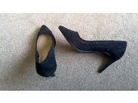 Black lace M&S new shoes size 5.5