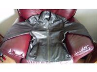 Pierre Cardin leather jacket. Black, size L