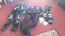 For sale motorbike leathers and boots