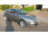 Alfa Romeo 147 1.9 JTD. Red leather interior with 17 inch alloys and electronic sun-roof
