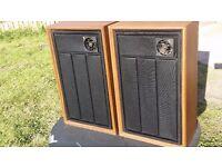 retro vintage wood speakers made in USA unbranded floor standing speakers