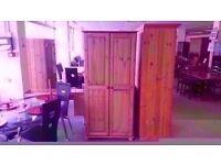 BRAND NEW!!! 2 door pine wardrobe classic design with built in rail