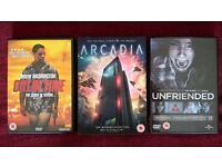 Arcadia, Out of Time and Unfriended DVDs - all 3 for £5