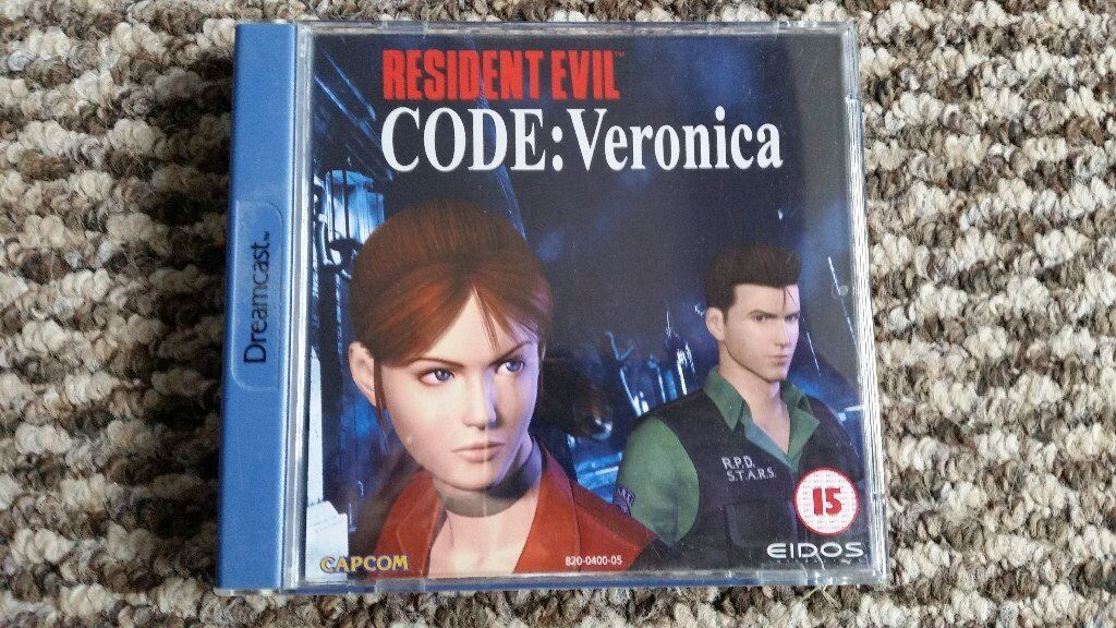 sega dreamcast Resident Evil Code Veronica boxed with instructions