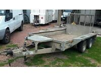 Excellent ifor williams gx105 10ft x 5.6ft 3500kg tandem axle plant trailer ex council no vat