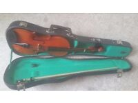 Ideal starter Violin with case and bow