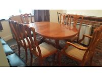 Dinning table and matching chairs