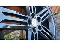 Audi / vw skoda .golf r alloys and tyres