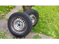 VW Transporter T5 2x steel wheels spare 205/65/16