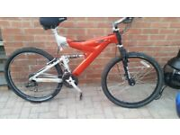 Raleigh max lite alloy framed full suspension quality mountain bike