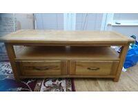 Solid Oak TV Table Unit- currently £400 at Harveys (calais range)