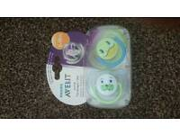 2 ANIMAL ORTODONTIC SOOTHERS.AVENT PHILIPS.