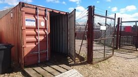 40 ft container and yard for rent