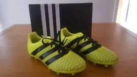 Boys Adidas ace 16.1 fg j football boots, size 13.5 UK, brand new