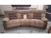 NEW SCS CURVE BROWN 4 SEATER ELECTRIC RECLINER CAN DELIVER. Viewing/Collection Kirkby NG17