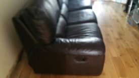 Furniture Village Leather Sofa Suite (2.5 Seater Sofabed + 2 Seater)