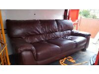 Free sofa and chair brown leather