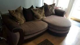 Brown 4 seater lounger