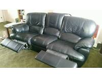 Faux leather 3 seat recliner