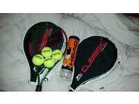 Two Slazenger junior rackets