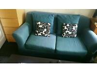 Teal sofa from ikea