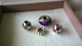 pandora charms x3 and 1 spacer price is each