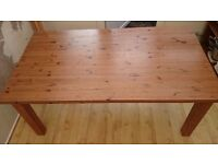 solid pine kitchen table dining table excellent condition