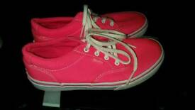 Pink Vans Shoes size 2 £4