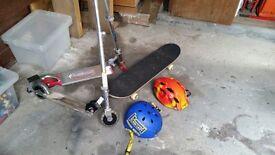 scooters skateboard and helmets job lot