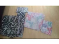 2 x double bedding and pillow cases