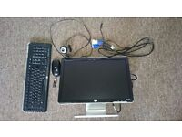 "HP 19.5""Monitor+wireless keyboard and mouse"
