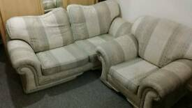 3 seater 2 seater and chair set