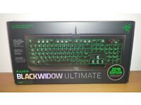 Razer Blackwidow Ultimate 2016 Stealth Mechanical Gaming Keyboard - NEW, BNIB